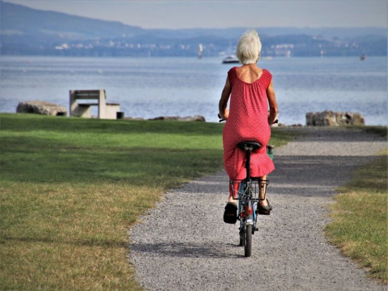 montar en bici con vistas chulas por la ciudad