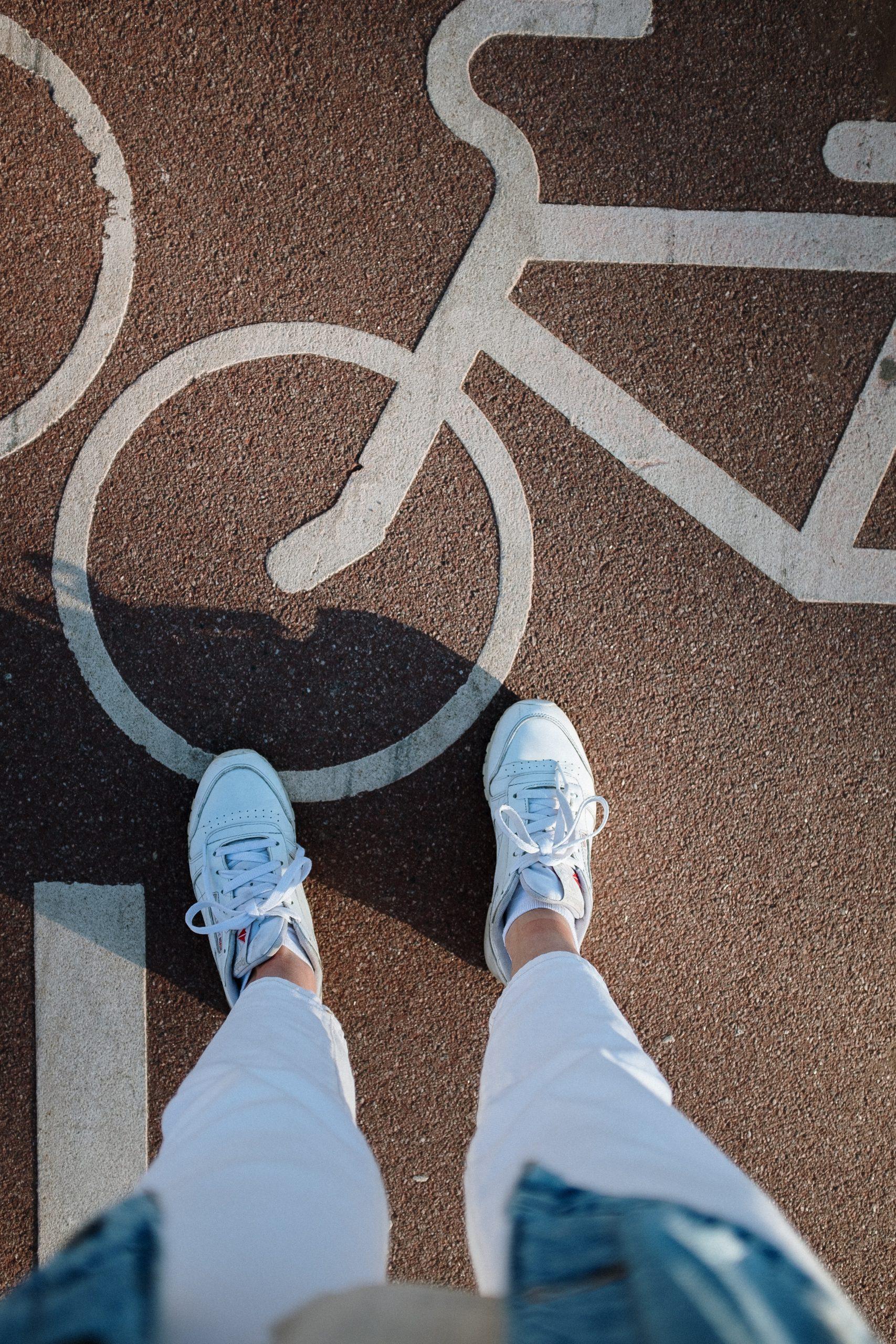carril bici adaptado para todas las bicis en ciudad